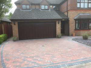 Block Paved Driveway with decorative border