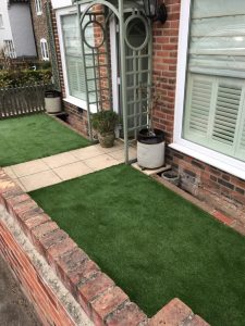 Artificial lawn completed in Suffolk in April 19.