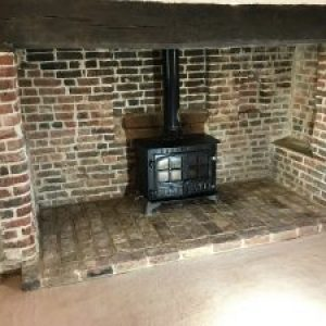 16th Century fire place repointed in an NHL 3.5 Mortar. Much Hadham, Herts
